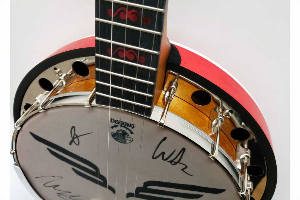 Mumford & Sons Canada Charity Banjo Signed