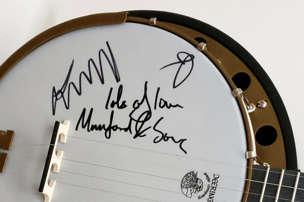 Oregon Mumford & Sons Signed Banjo- Message