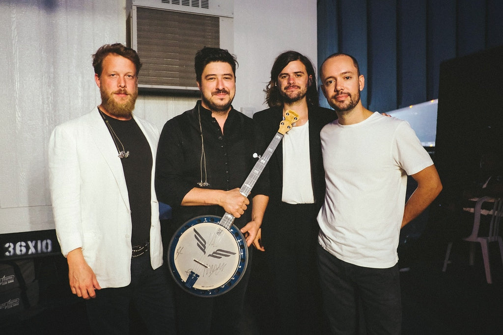 Mumford and Sons with the San Diego Charity Banjo