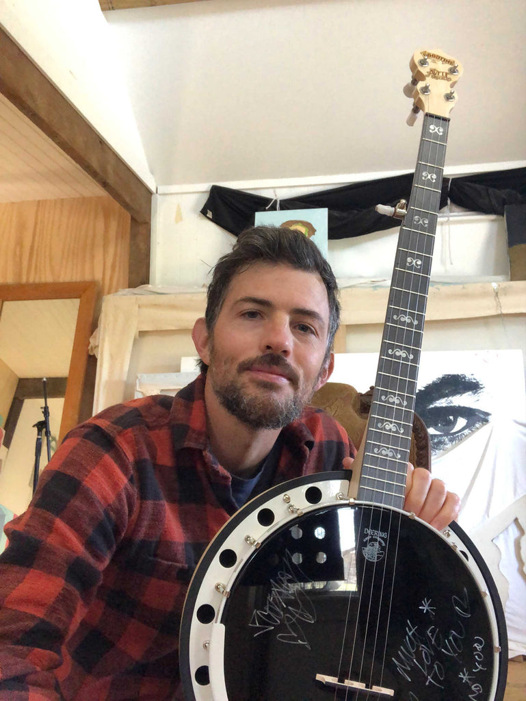 Scott Avett Giving Tuesday Charity Banjo