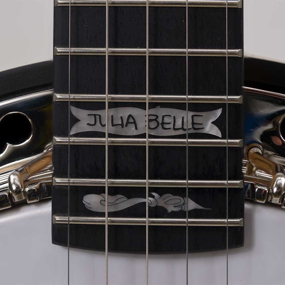 Julia Belle Low Banjo Handwriting Inlay
