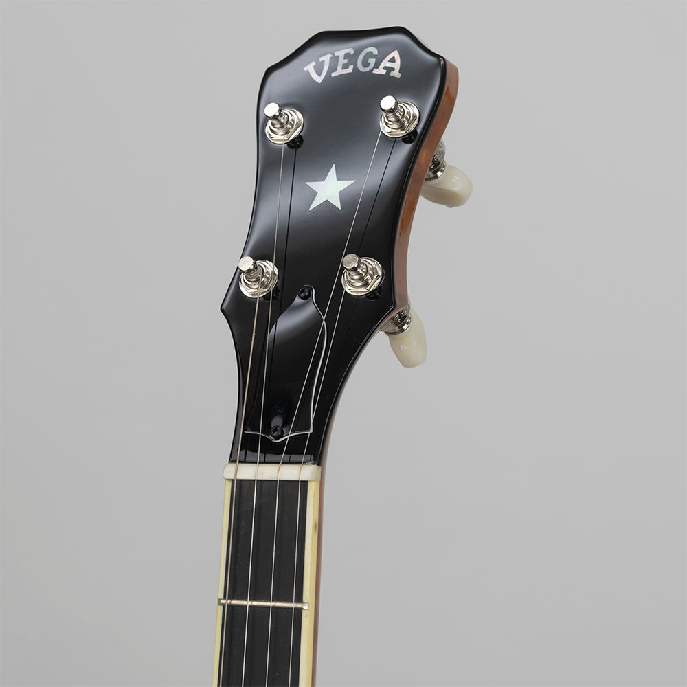 Vega Kingston Trio Bob Shane Plectrum banjo - peghead front close