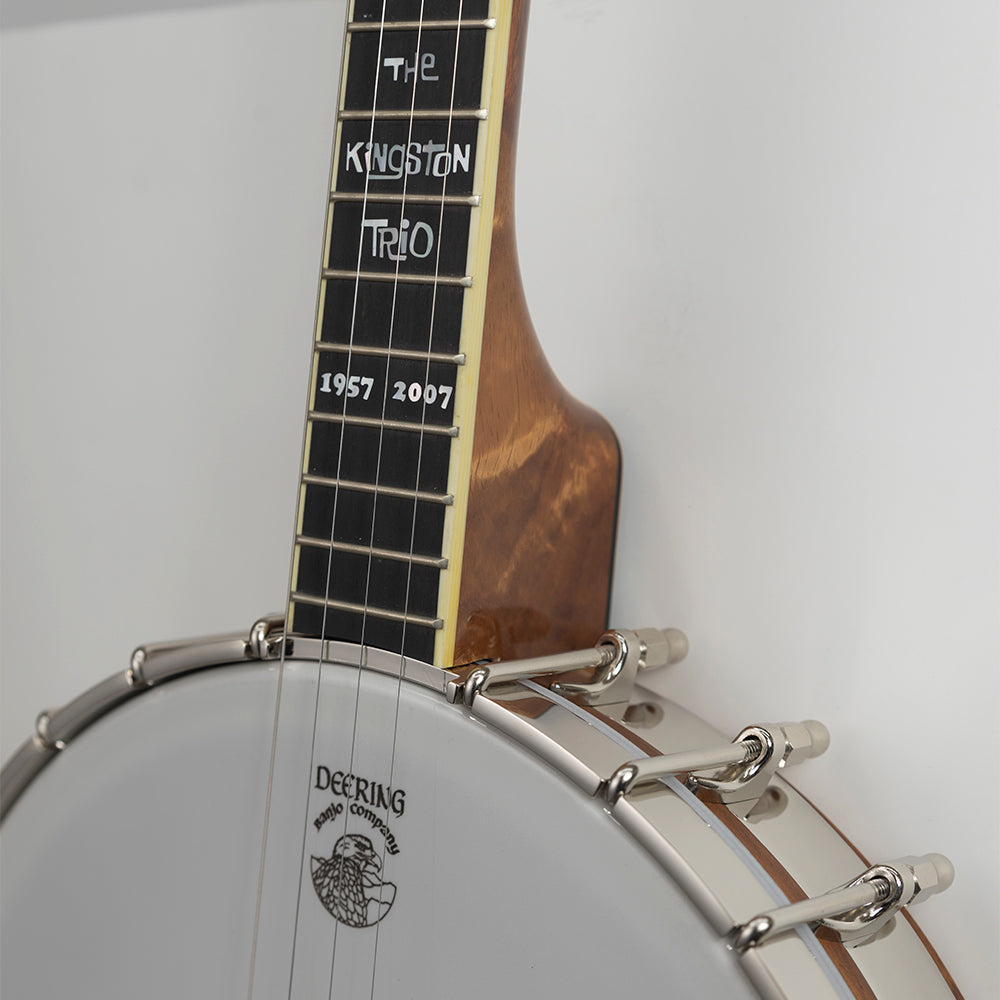 Vega Kingston Trio Bob Shane Plectrum banjo -neck joint close