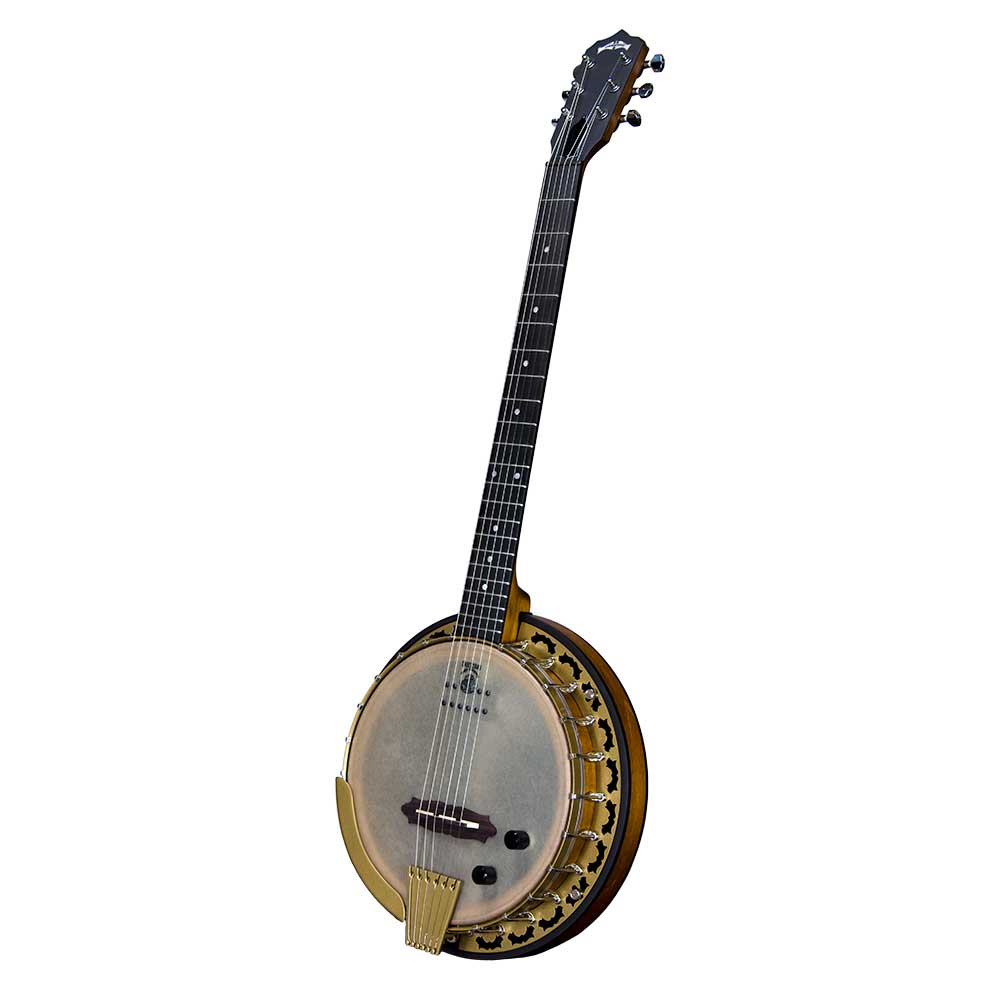 Deering Phoenix Acoustic/Electric 6-String Banjo - front