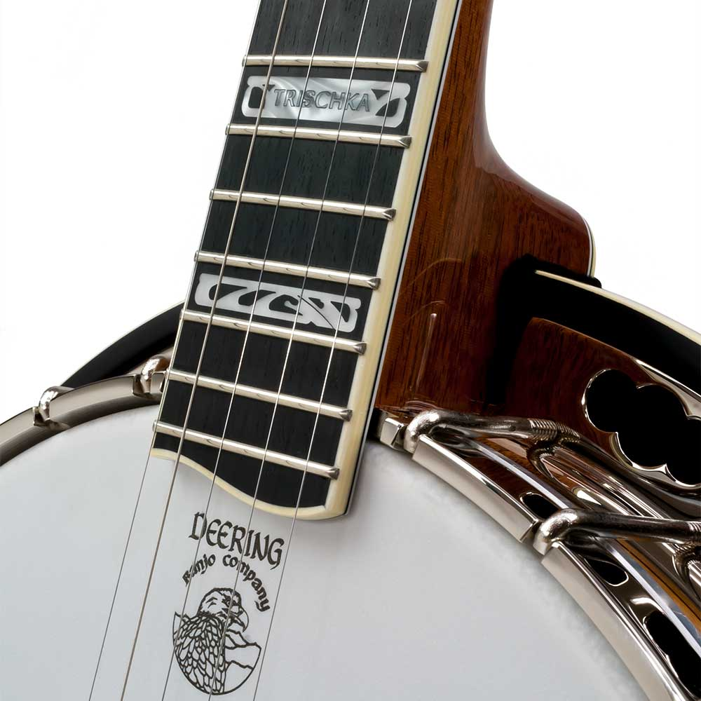 Tony Trischka Silver Clipper Banjo - neck joint front