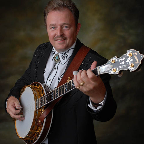 Gary Waldrep with his Deering Golden Classic banjo
