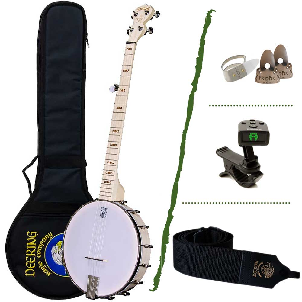 Deering Goodtime Banjo Beginner Package