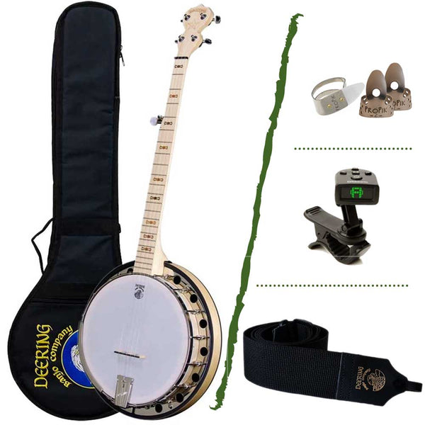 Deering Goodtime Bluegrass Banjo Beginner Package