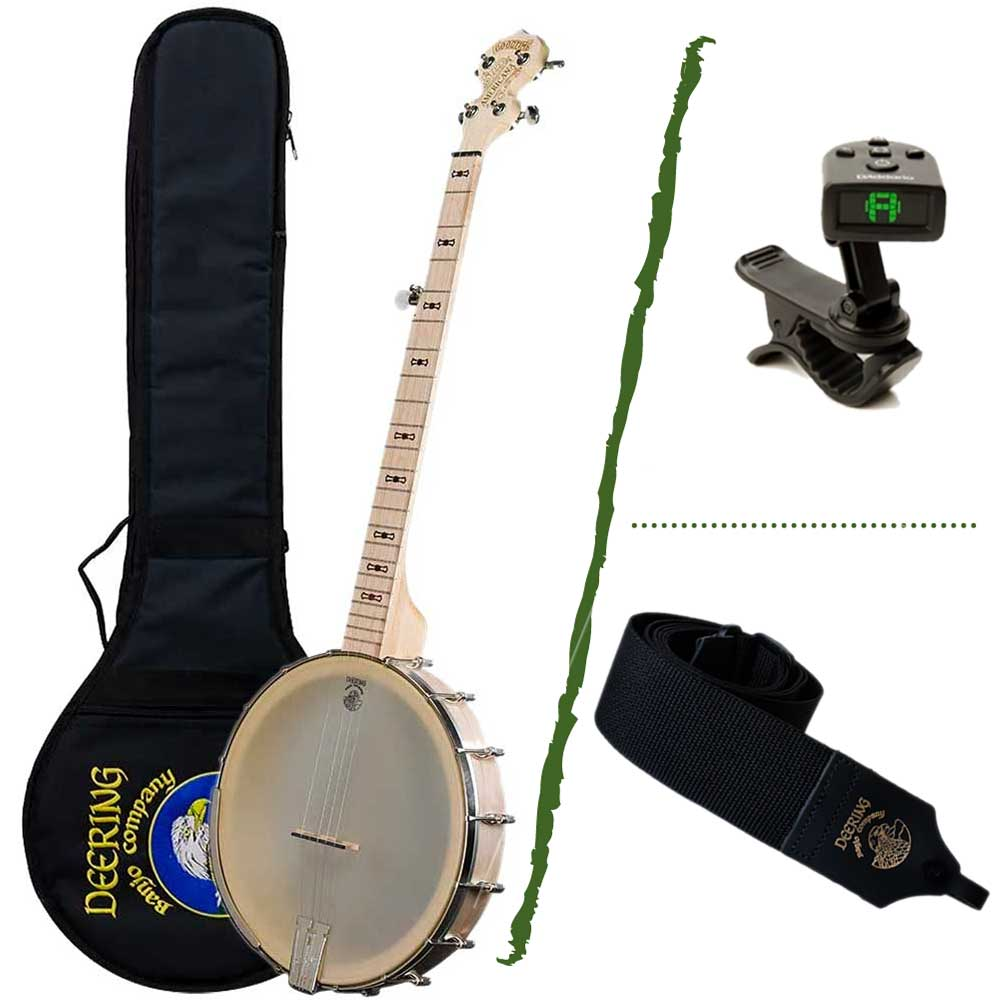 Deering Goodtime Old Time Beginner Banjo Package