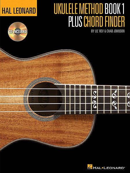 Ukulele Method Book 1- Plus Chord Finder
