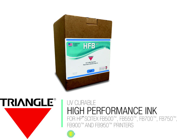 BLACK - TRIANGLE® HFB UV CURABLE INK - 3 LITER