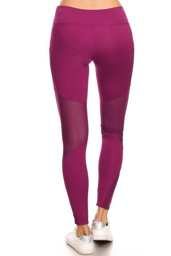 Plum High Waisted Yoga Pants