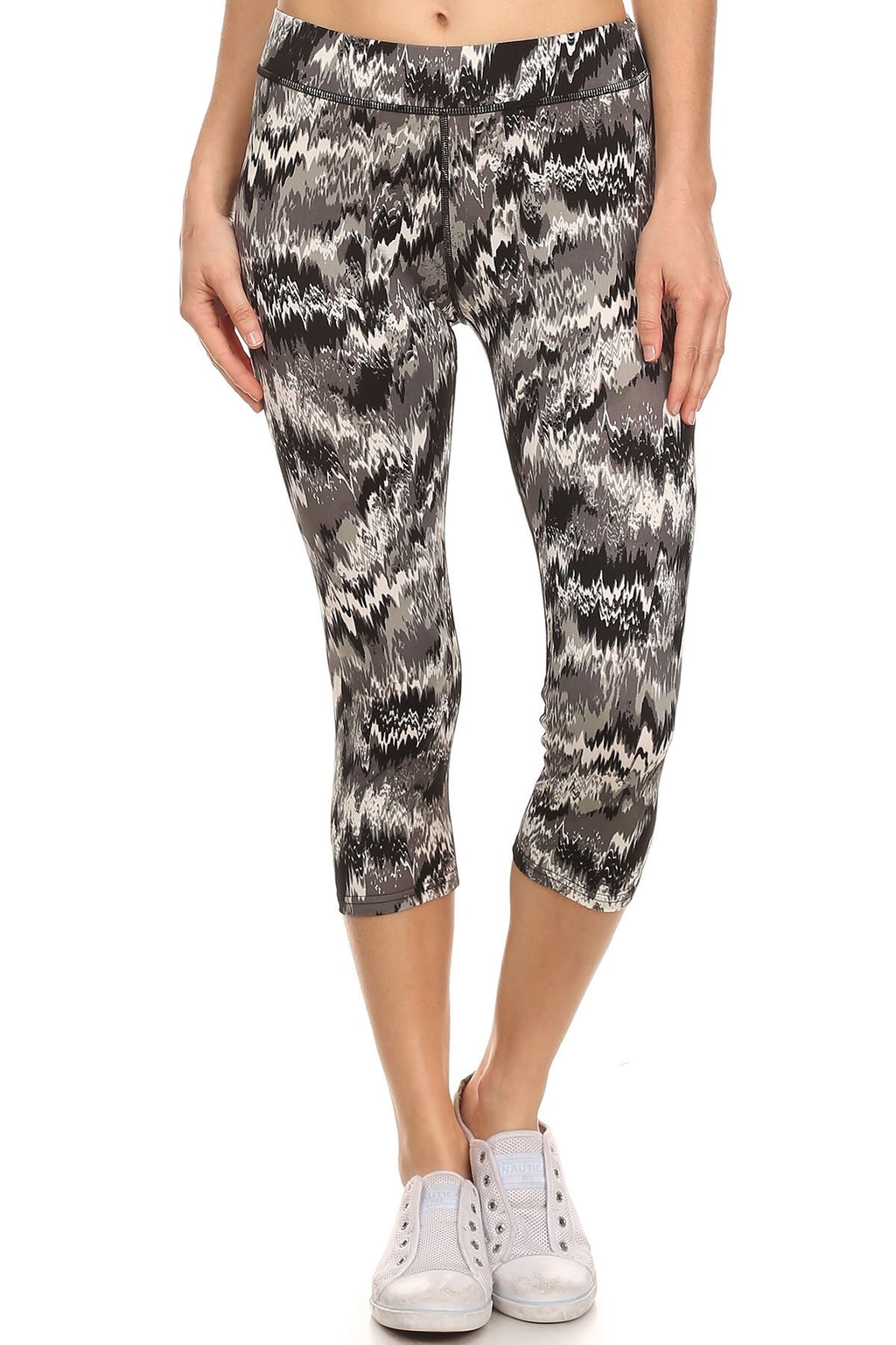Abstract cropped legging