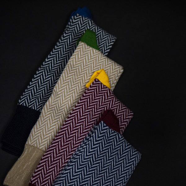 AMERICAN TRENCH PIMA HERRINGBONE SOCKS AT THE LODGE
