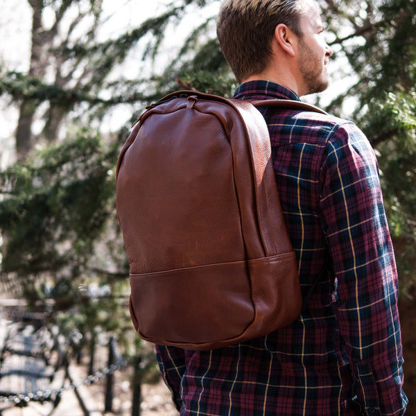 LEATHER BACKPACKS AT THE LODGE MAN SHOP