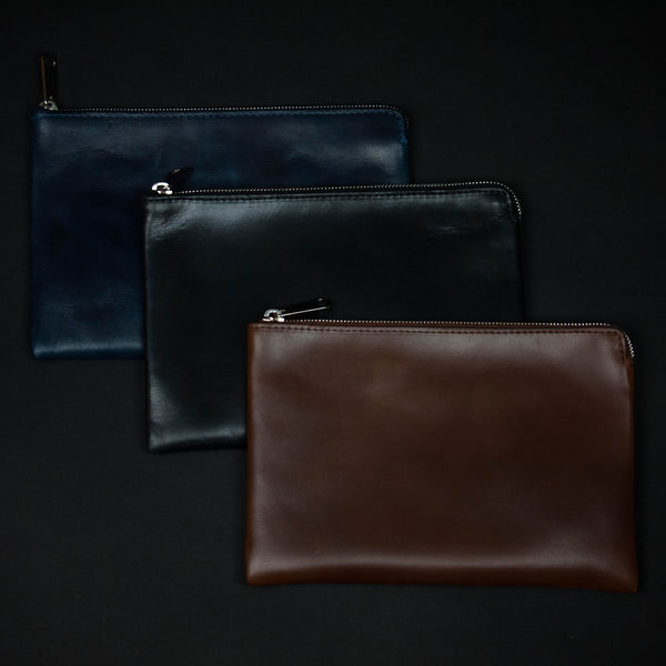 Laulom Leather Utility Pouches at The Lodge
