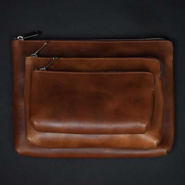 Laulom Leather Zip Utility Pouches at The Lodge