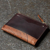Laulom #8 Cordovan Zip Coin Wallet at The Lodge