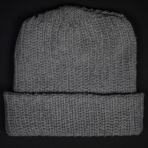 ADIRONDACK SMOKEY GREY COTTON KNIT HAT - THE LODGE  - 1