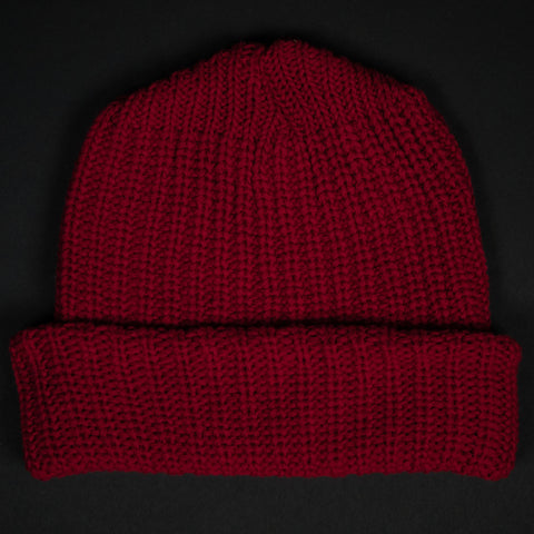 ADIRONDACK RED COTTON KNIT HAT - THE LODGE  - 1