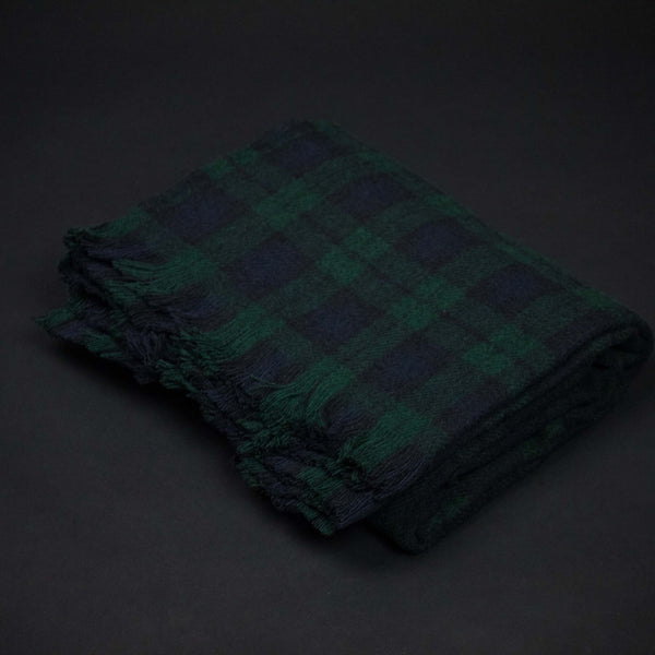 Amana Lodge Black Watch Plaid Wool Throw