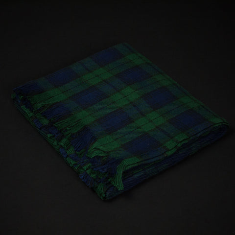 AMANA BLACK WATCH PLAID COTTON THROW - THE LODGE  - 1