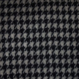 AMANA HOUNDSTOOTH WOOL THROW BLACK/WHITE