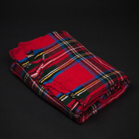 Amana Lodge Red Stewart Plaid Throw at The Lodge