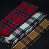 LODGE RED STEWART PLAID WOOL THROW - THE LODGE  - 2