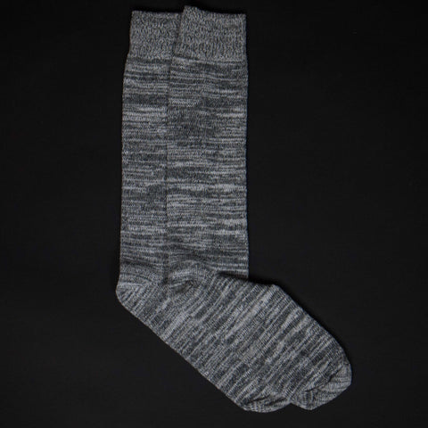 ARDMORE VARIGATED COTTON BOOT SOCKS GREY - THE LODGE  - 1