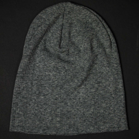 COTTON KNIT BEANIE GREY MINISTRIPE - THE LODGE  - 1