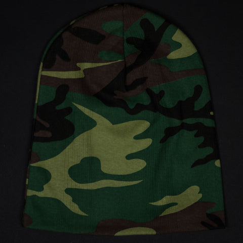 COTTON KNIT HAT CAMOUFLAGE - THE LODGE  - 1