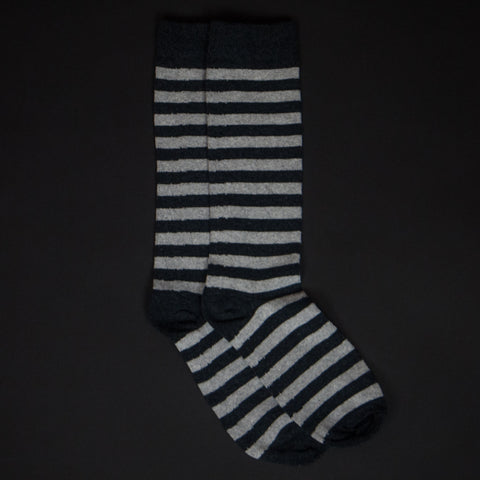 American Trench Carbon/Aluminum Rugby Stripe Socks at The Lodge