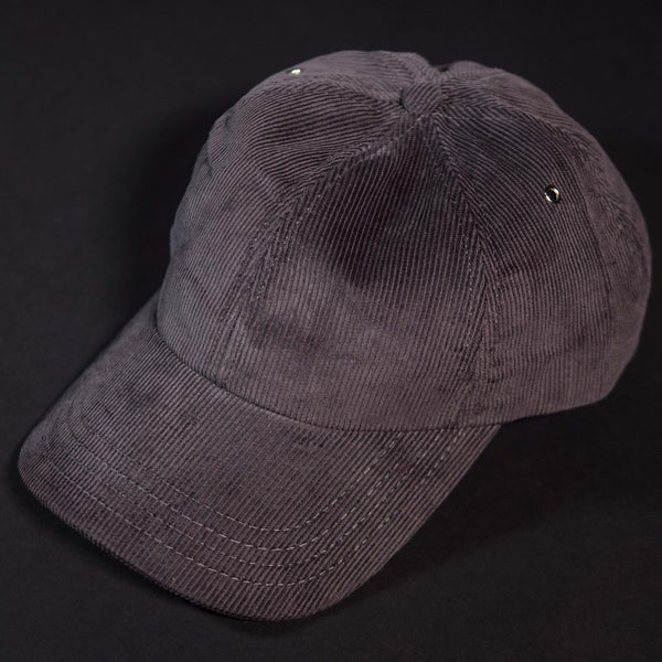 General Knot Corduroy Baseball Cap Charcoal at The Lodge