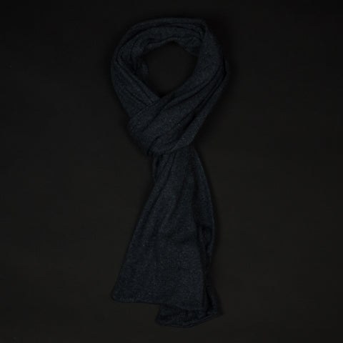American Trench Cotton Stripe Scarf Charcoal at The Lodge