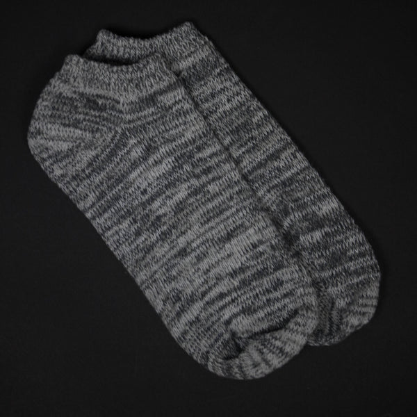SMOKE HEATHER SUMMER SOCKS - THE LODGE  - 1
