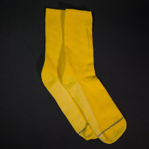 American Trench Silver Crew Socks Yellow at The Lodge