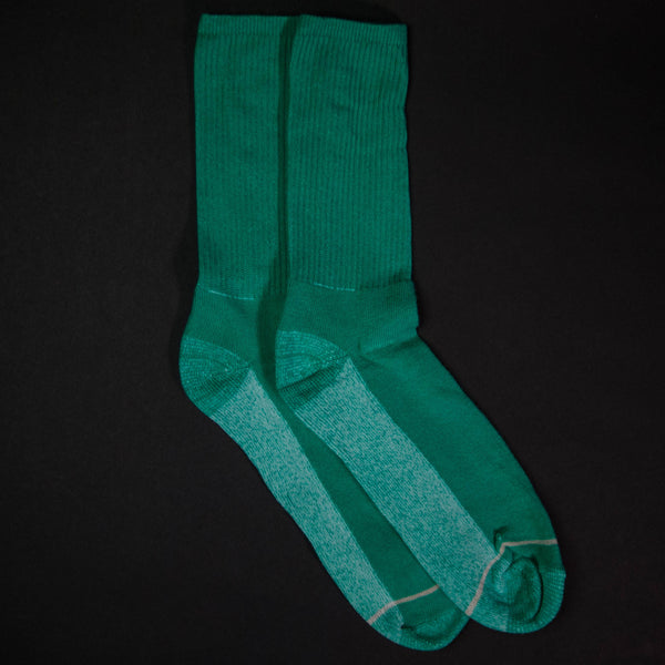 American Trench Light Green Silver/Cotton Crew Socks at The Lodge