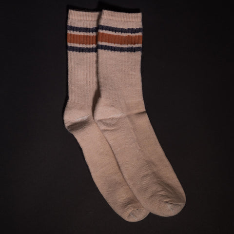 American Trench Silver Merino Socks Tan at The Lodge