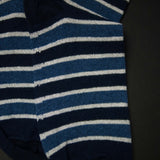 DARK NAVY/ BLUE COTTON STRIPE SOCKS