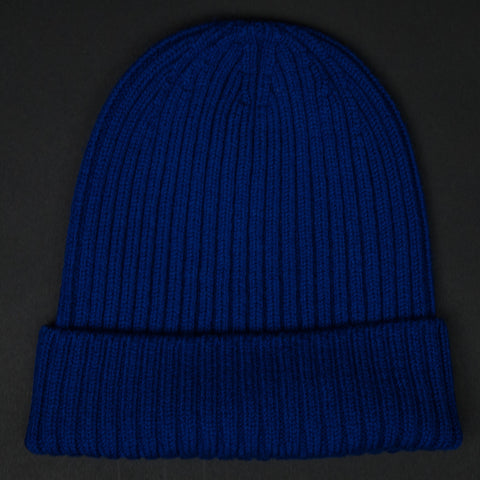 American Trench Superfine Merino Wool Knit Hat Blue at The Lodge