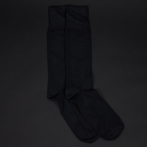 American Trench Supima Herringbone Socks Charcoal at The Lodge