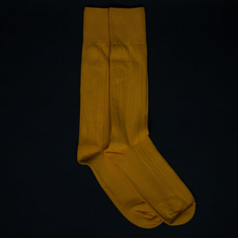American Trench Supima Cotton Rib Socks Yellow at The Lodge