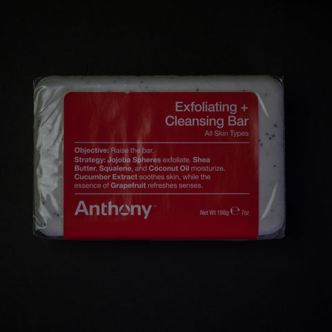 ANTHONY EXFOLIATING + CLEANSING BAR SOAP