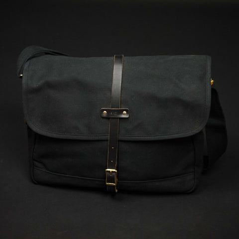 Archival Waxed Black Field Bag at The Lodge