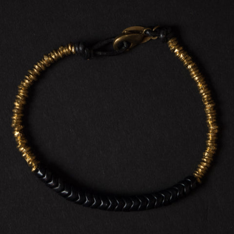 Astali Ventura Black Snakeglass & Brass Bracelet at The Lodge