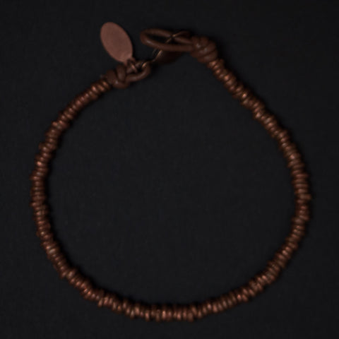 Astali Oceanside Copper Heishi Beaded Bracelet at The Lodge Man Shop