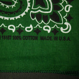 WASHED HUNTER GREEN BANDANA - THE LODGE  - 4