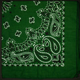 WASHED HUNTER GREEN BANDANA - THE LODGE  - 1