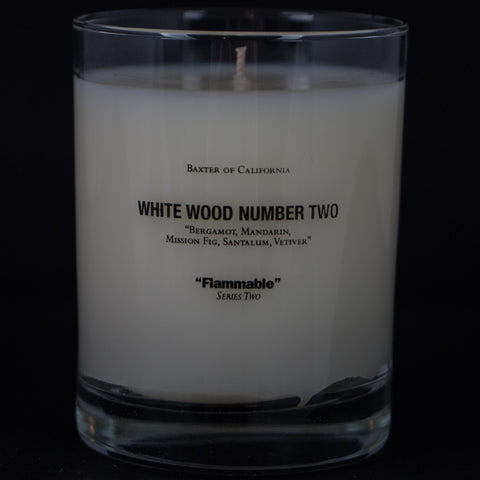 BAXTER WHITE WOOD TWO CANDLE - THE LODGE  - 1